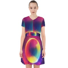 Colorful Glowing Adorable In Chiffon Dress