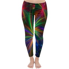 Colorful Firework Celebration Graphics Classic Winter Leggings by Sapixe