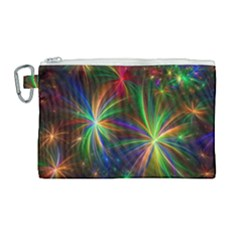 Colorful Firework Celebration Graphics Canvas Cosmetic Bag (large) by Sapixe