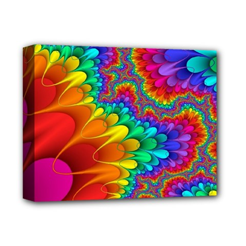 Colorful Trippy Deluxe Canvas 14  X 11  by Sapixe