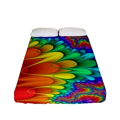 Colorful Trippy Fitted Sheet (full/ Double Size)