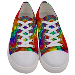 Colorful Trippy Women s Low Top Canvas Sneakers
