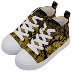 Colorful The Beautiful Of Traditional Art Indonesian Batik Pattern Kid s Mid Top Canvas Sneakers by Sapixe