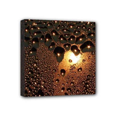 Condensation Abstract Mini Canvas 4  X 4  by Sapixe