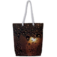 Condensation Abstract Full Print Rope Handle Tote (small) by Sapixe