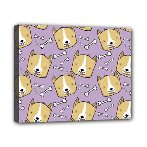Dog Pattern Canvas 10  X 8  by Sapixe