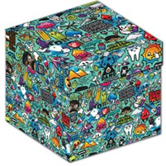 Comics Collage Storage Stool 12   by Sapixe