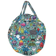 Comics Collage Giant Round Zipper Tote