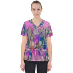 Crystal Flower Scrub Top