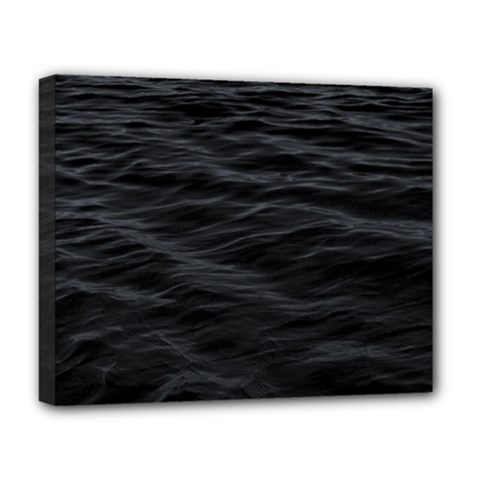 Dark Lake Ocean Pattern River Sea Deluxe Canvas 20  X 16   by Sapixe