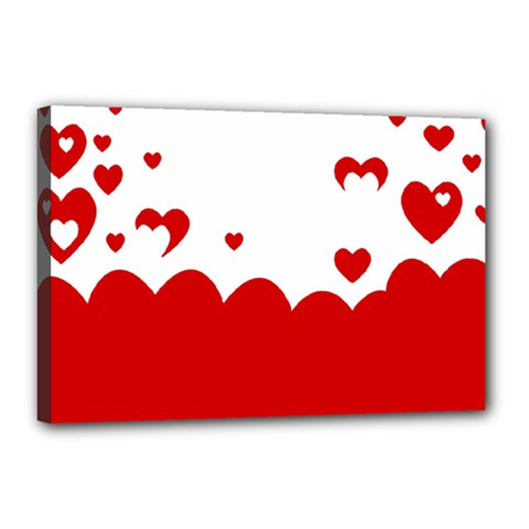 Heart Shape Background Love Canvas 18  X 12