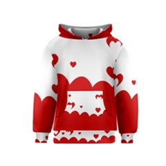Heart Shape Background Love Kids  Pullover Hoodie