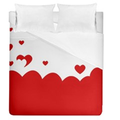 Heart Shape Background Love Duvet Cover (queen Size)