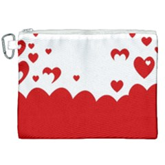 Heart Shape Background Love Canvas Cosmetic Bag (xxl) by Nexatart