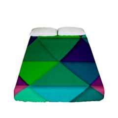 Background Geometric Triangle Fitted Sheet (full/ Double Size) by Nexatart
