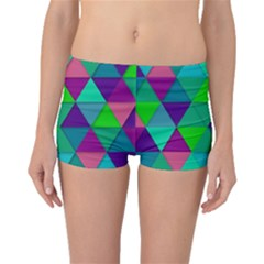 Background Geometric Triangle Boyleg Bikini Bottoms