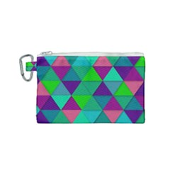 Background Geometric Triangle Canvas Cosmetic Bag (small) by Nexatart