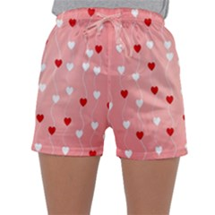Heart Shape Background Love Sleepwear Shorts