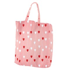 Heart Shape Background Love Giant Grocery Zipper Tote