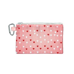 Heart Shape Background Love Canvas Cosmetic Bag (small)