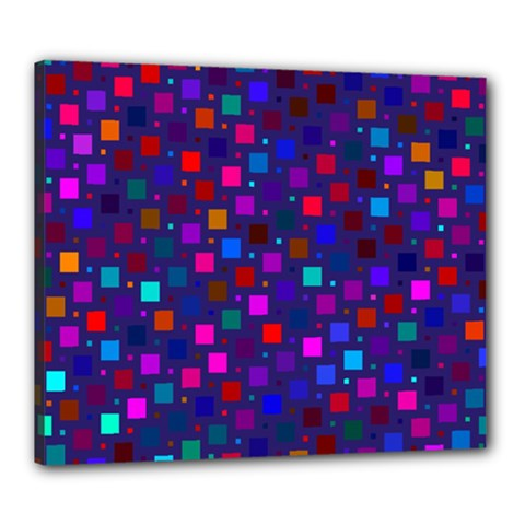 Squares Square Background Abstract Canvas 24  X 20