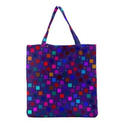 Squares Square Background Abstract Grocery Tote Bag by Nexatart