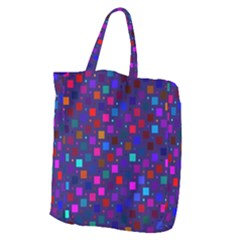 Squares Square Background Abstract Giant Grocery Zipper Tote
