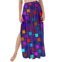 Squares Square Background Abstract Maxi Chiffon Tie Up Sarong