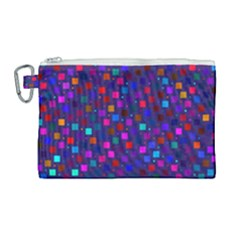 Squares Square Background Abstract Canvas Cosmetic Bag (large)