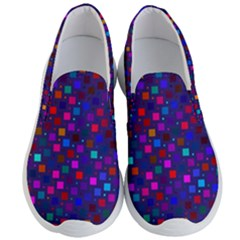 Squares Square Background Abstract Men s Lightweight Slip Ons