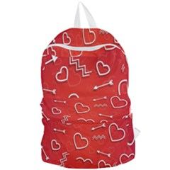 Background Valentine S Day Love Foldable Lightweight Backpack