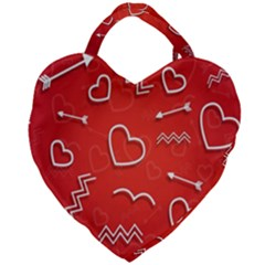Background Valentine S Day Love Giant Heart Shaped Tote