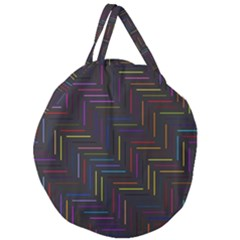 Lines Line Background Giant Round Zipper Tote