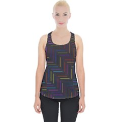 Lines Line Background Piece Up Tank Top