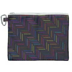 Lines Line Background Canvas Cosmetic Bag (xxl) by Nexatart
