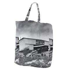Omaha Airfield Airplain Hangar Giant Grocery Zipper Tote