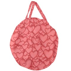 Background Hearts Love Giant Round Zipper Tote