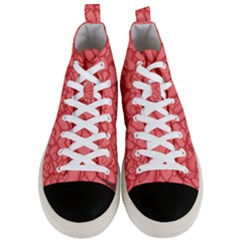 Background Hearts Love Men s Mid Top Canvas Sneakers