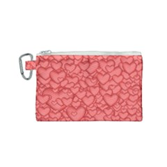 Background Hearts Love Canvas Cosmetic Bag (small)