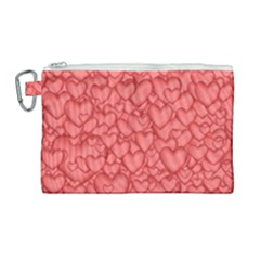 Background Hearts Love Canvas Cosmetic Bag (large) by Nexatart
