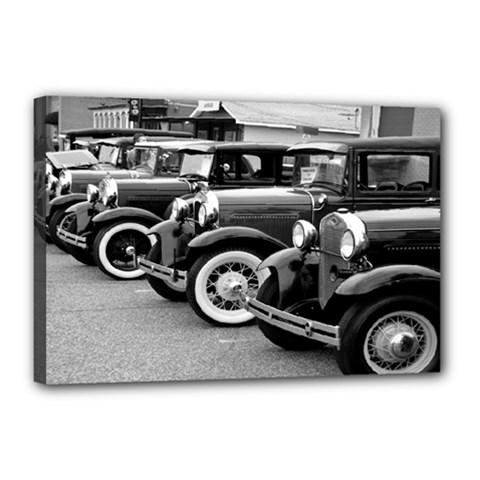 Vehicle Car Transportation Vintage Canvas 18  X 12