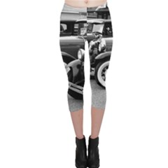 Vehicle Car Transportation Vintage Capri Leggings  by Nexatart