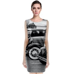 Vehicle Car Transportation Vintage Classic Sleeveless Midi Dress