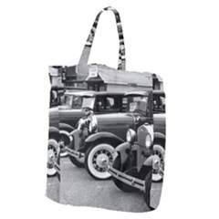 Vehicle Car Transportation Vintage Giant Grocery Zipper Tote