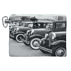 Vehicle Car Transportation Vintage Canvas Cosmetic Bag (xl) by Nexatart