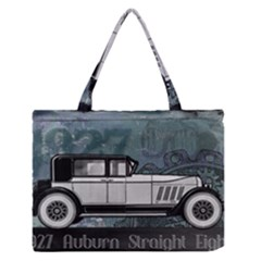 Vintage Car Automobile Auburn Zipper Medium Tote Bag