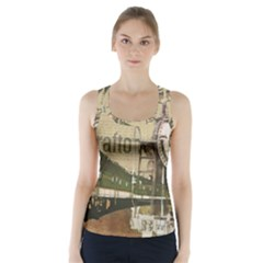 Train Vintage Tracks Travel Old Racer Back Sports Top