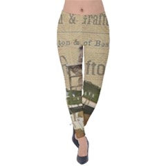 Train Vintage Tracks Travel Old Velvet Leggings