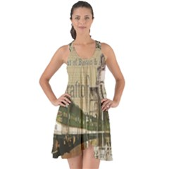 Train Vintage Tracks Travel Old Show Some Back Chiffon Dress by Nexatart