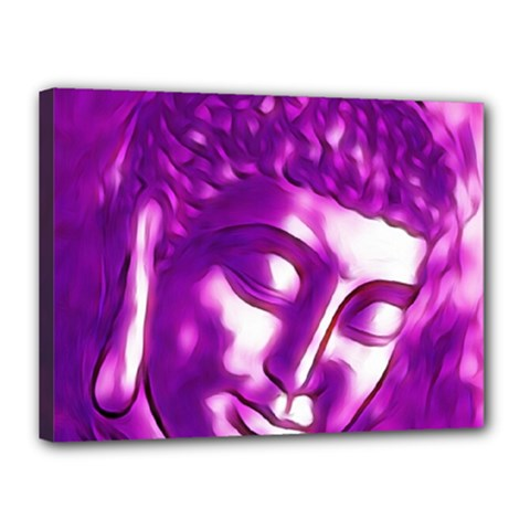 Purple Buddha Art Portrait Canvas 16  X 12  by yoursparklingshop